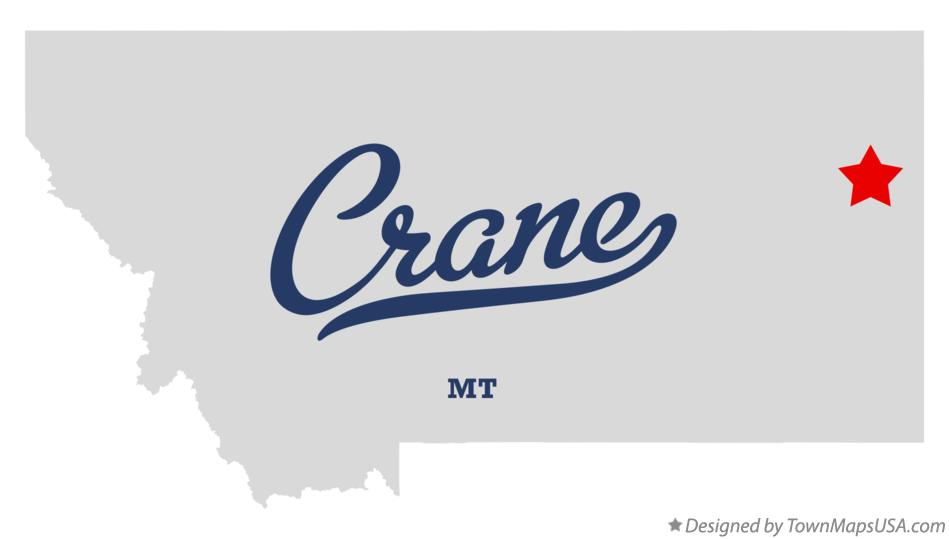 Map of Crane Montana MT