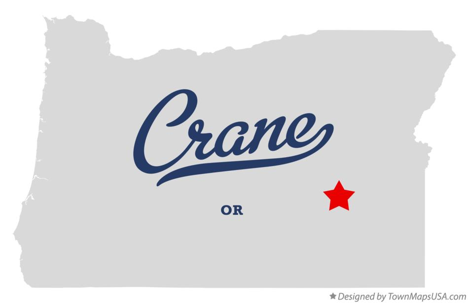 Map of Crane Oregon OR