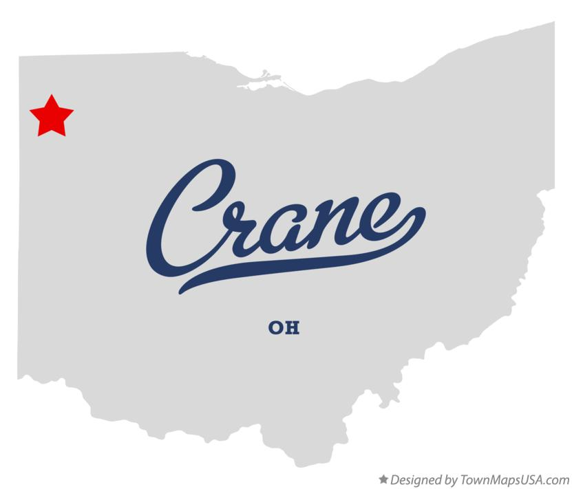 Map of Crane Ohio OH