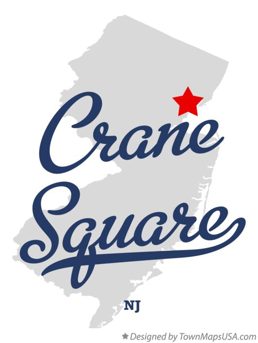 Map of Crane Square New Jersey NJ