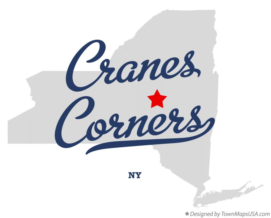 Map of Cranes Corners New York NY
