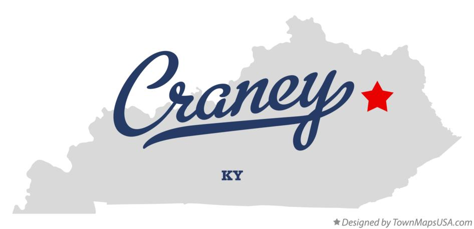 Map of Craney Kentucky KY