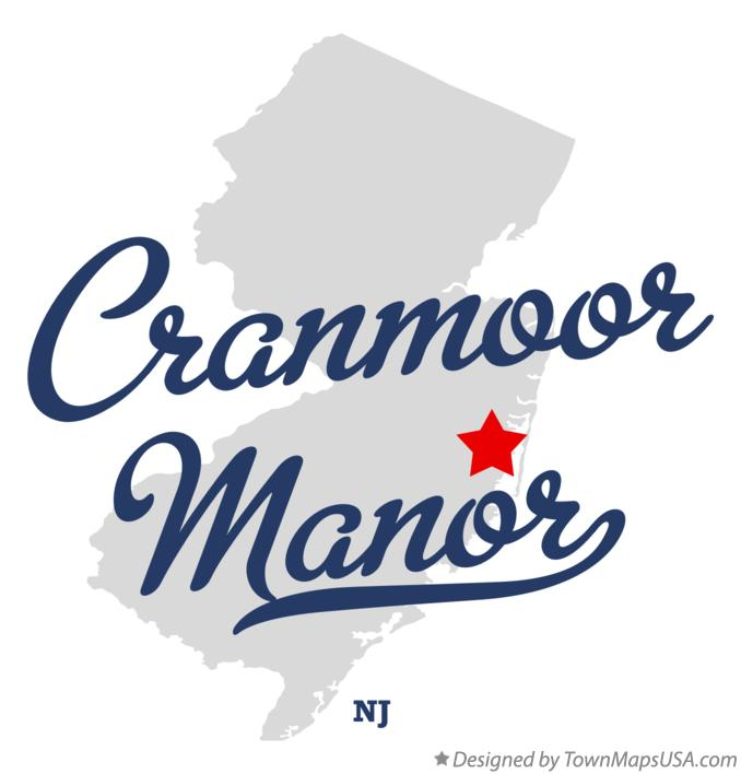 Map of Cranmoor Manor New Jersey NJ