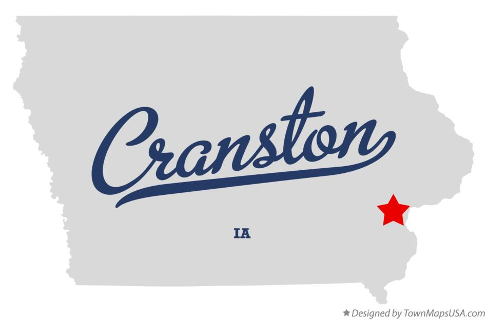 Map of Cranston Iowa IA