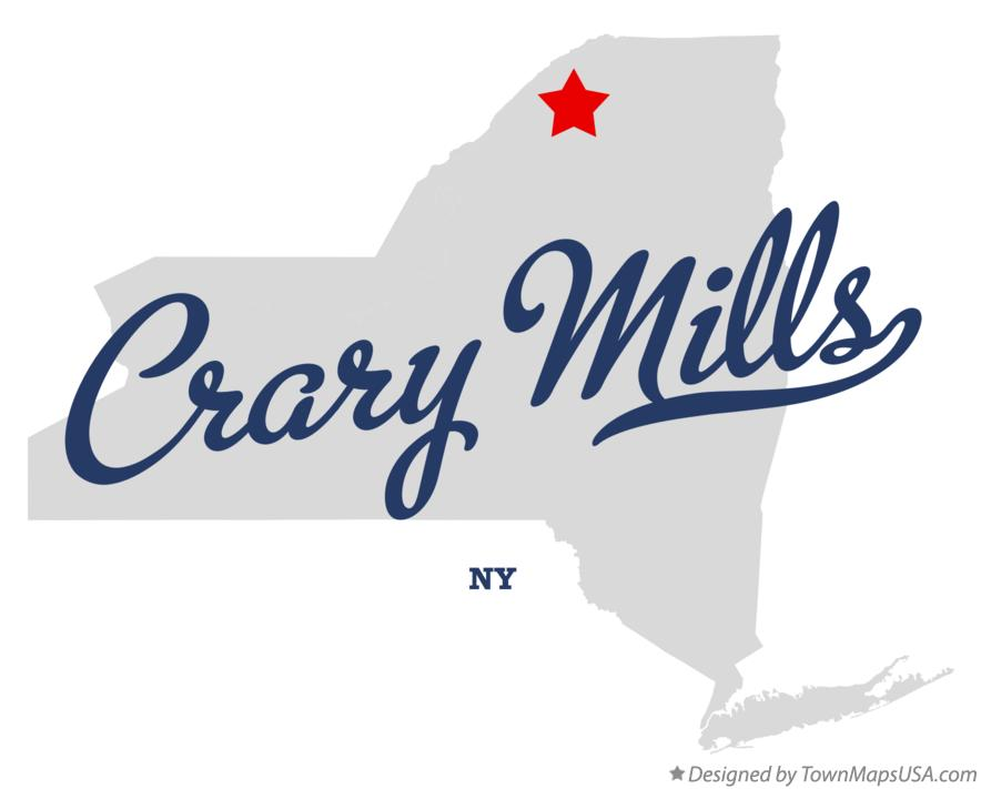 Map of Crary Mills New York NY