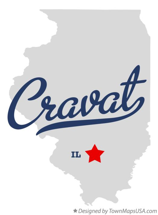 Map of Cravat Illinois IL