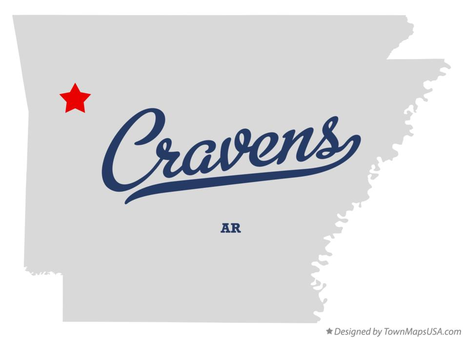 Map of Cravens Arkansas AR