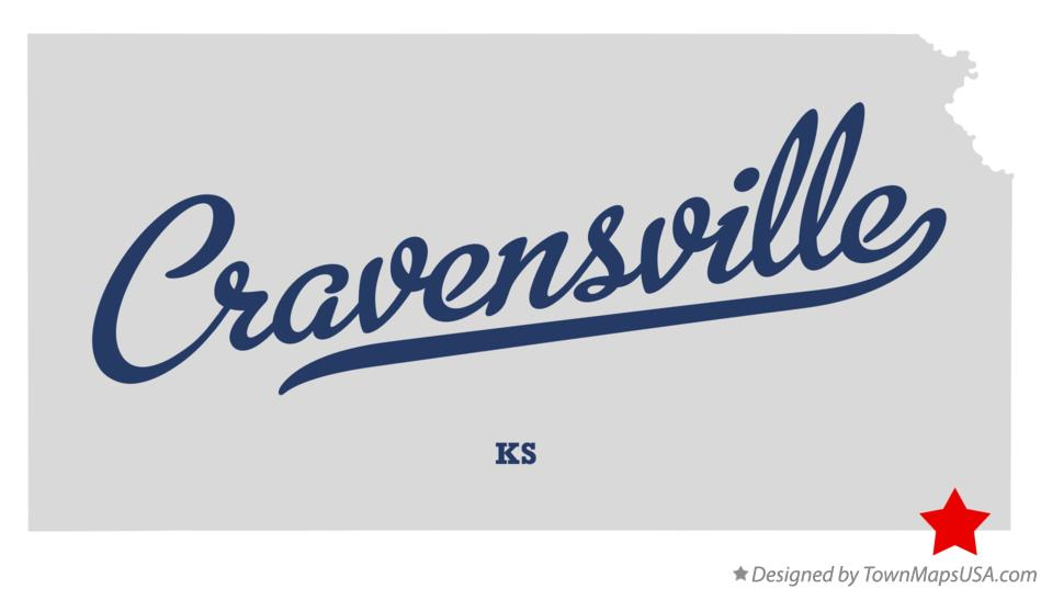 Map of Cravensville Kansas KS