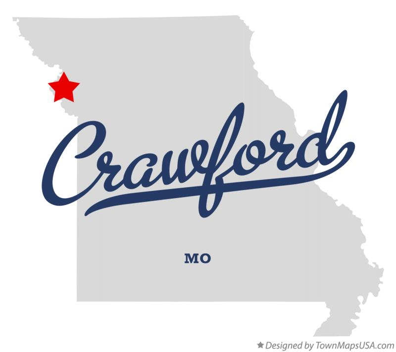Map of Crawford Missouri MO