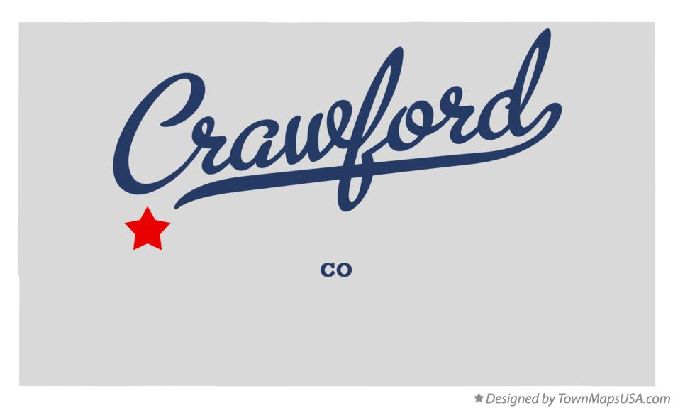 Map of Crawford Colorado CO