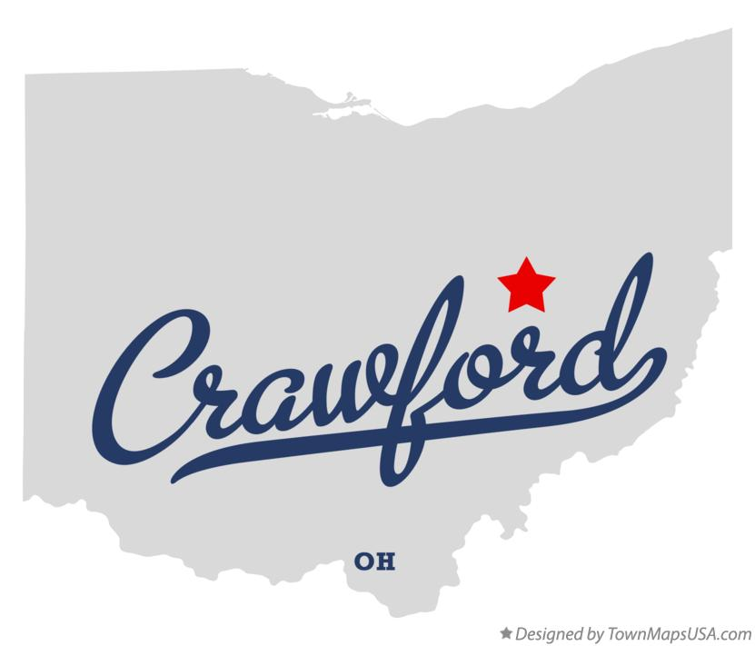 Map of Crawford Ohio OH