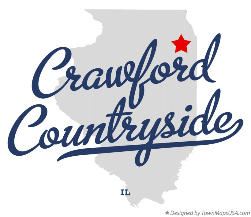 Map of Crawford Countryside Illinois IL