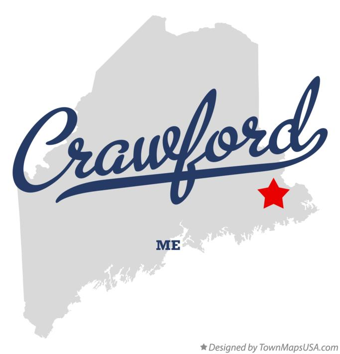 Map of Crawford Maine ME