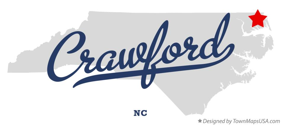 Map of Crawford North Carolina NC