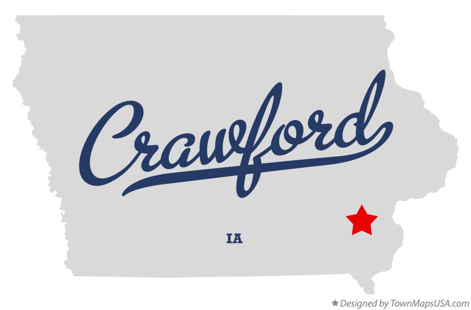 Map of Crawford Iowa IA
