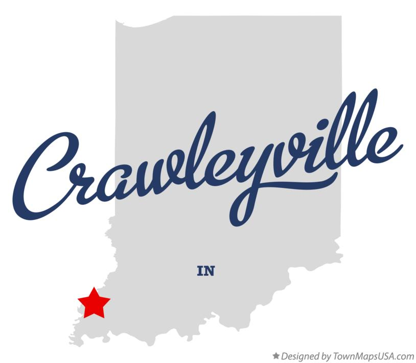 Map of Crawleyville Indiana IN