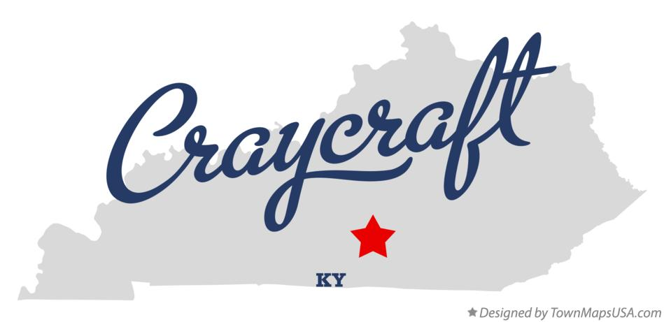 Map of Craycraft Kentucky KY