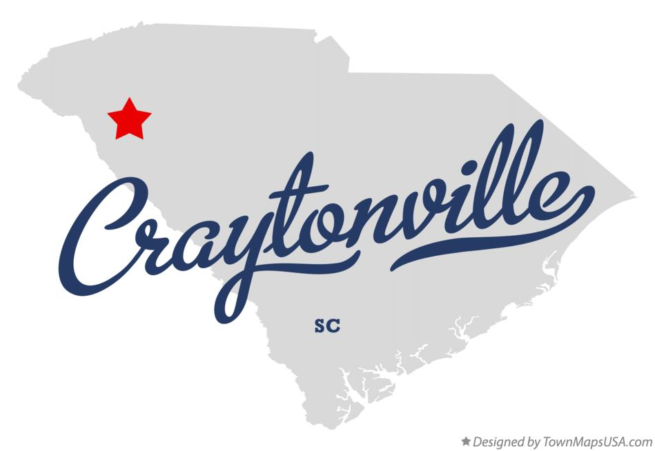 Map of Craytonville South Carolina SC