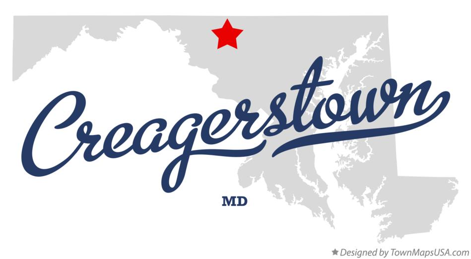 Map of Creagerstown Maryland MD
