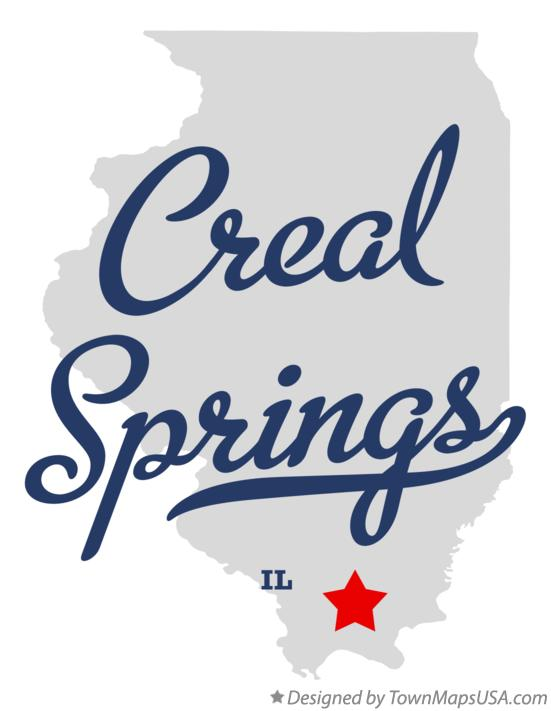 Map of Creal Springs Illinois IL