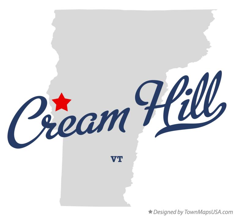 Map of Cream Hill Vermont VT
