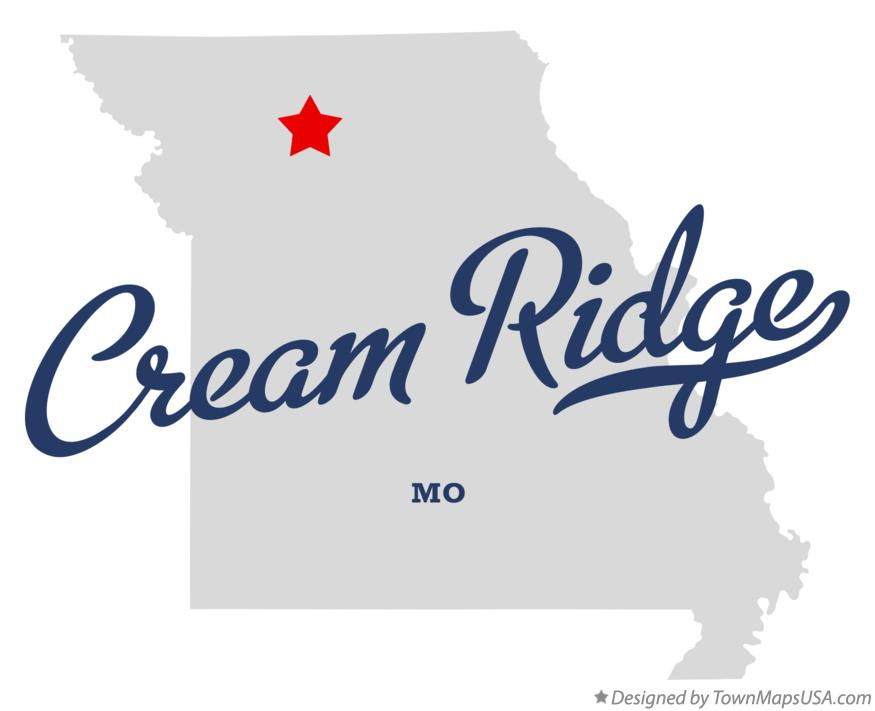 Map of Cream Ridge Missouri MO