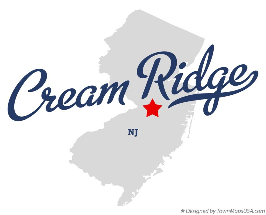 Map of Cream Ridge New Jersey NJ