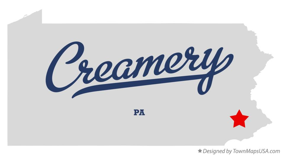 Map of Creamery Pennsylvania PA