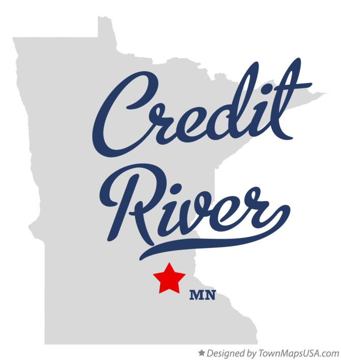 Map of Credit River Minnesota MN