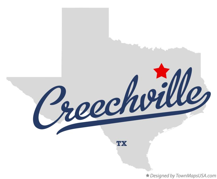 Map of Creechville Texas TX