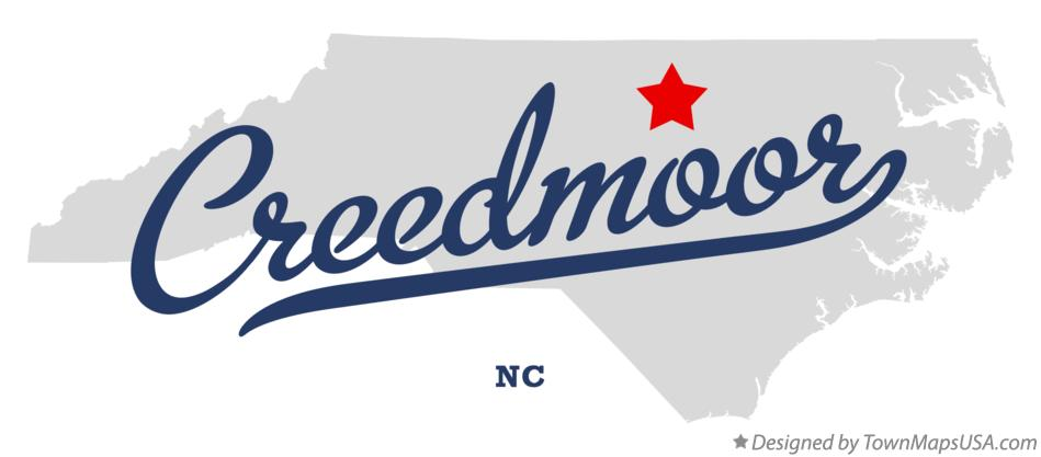 Map of Creedmoor North Carolina NC