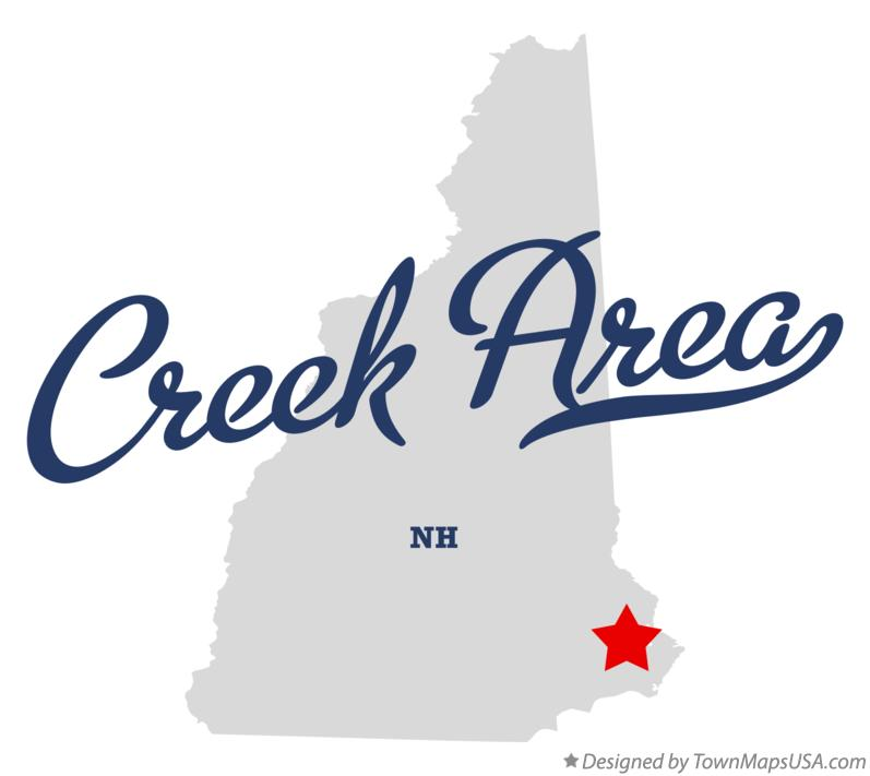 Map of Creek Area New Hampshire NH