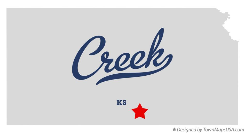Map of Creek Kansas KS