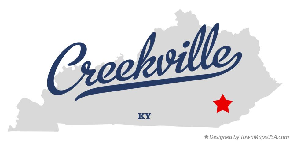 Map of Creekville Kentucky KY