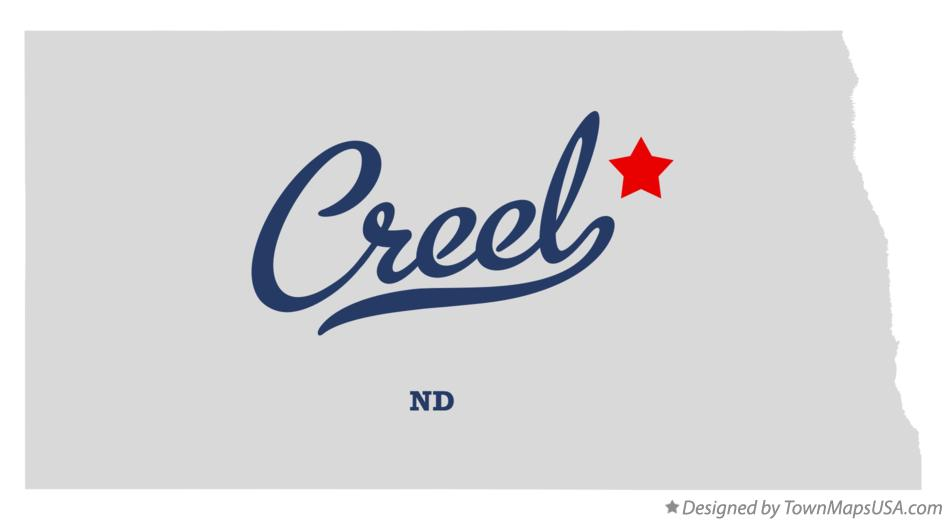 Map of Creel North Dakota ND