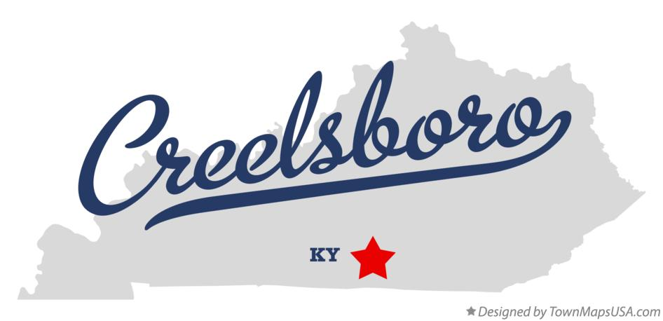 Map of Creelsboro Kentucky KY