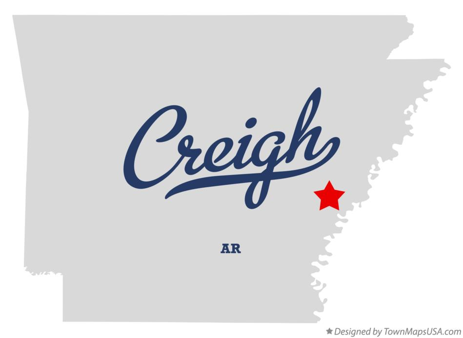 Map of Creigh Arkansas AR