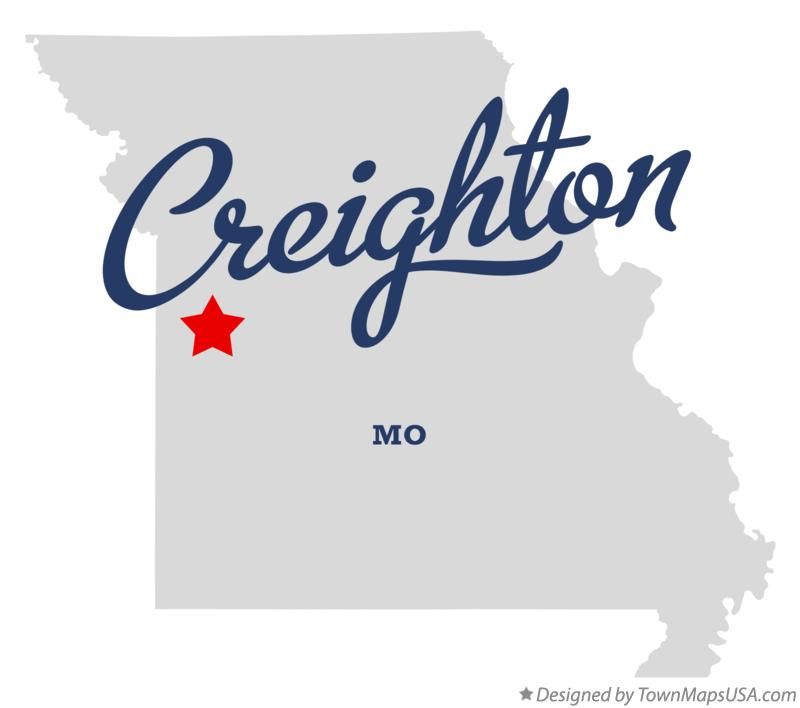 Map of Creighton Missouri MO