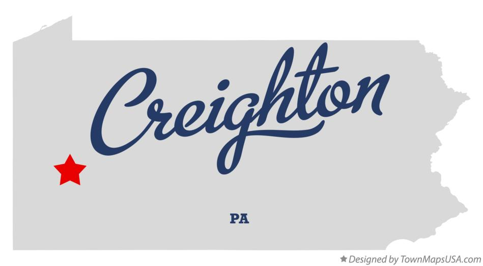 Map of Creighton Pennsylvania PA