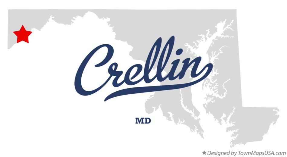 Map of Crellin Maryland MD