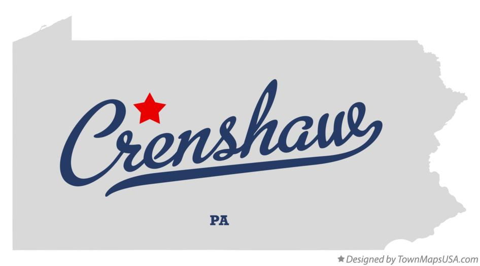 Map of Crenshaw Pennsylvania PA