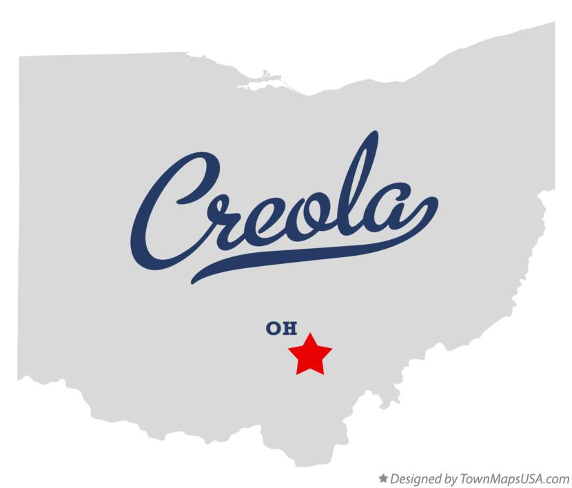 Map of Creola Ohio OH
