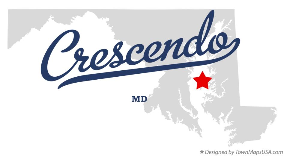 Map of Crescendo Maryland MD