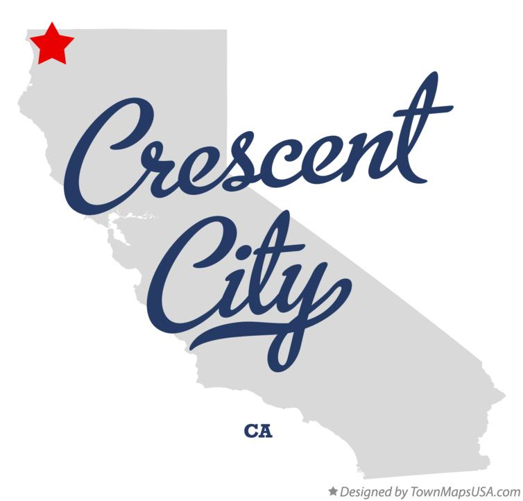 Map of Crescent City California CA
