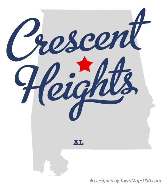 Map of Crescent Heights Alabama AL