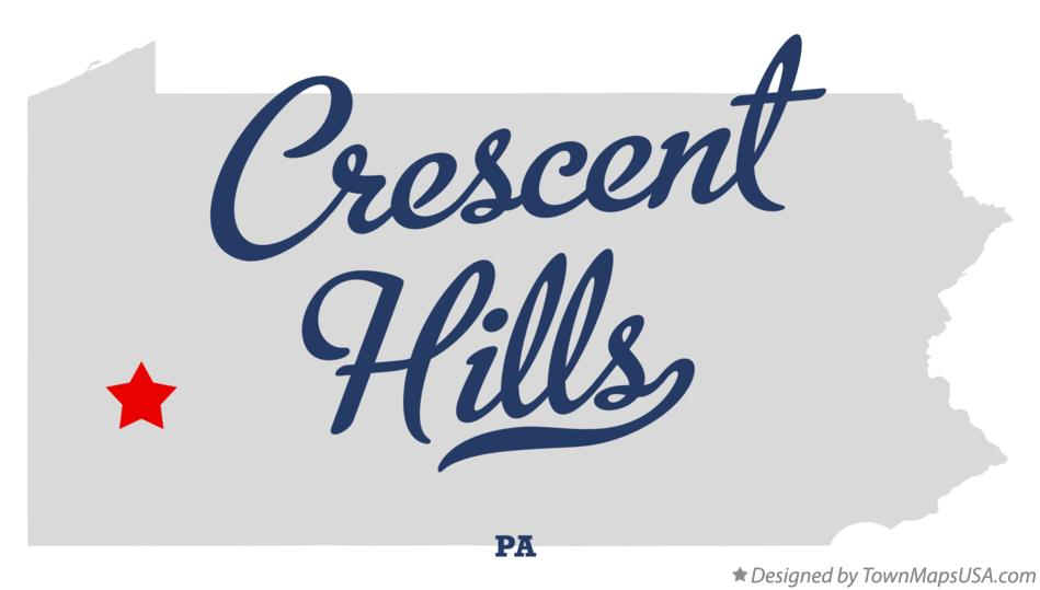 Map of Crescent Hills Pennsylvania PA