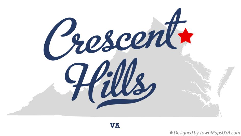 Map of Crescent Hills Virginia VA