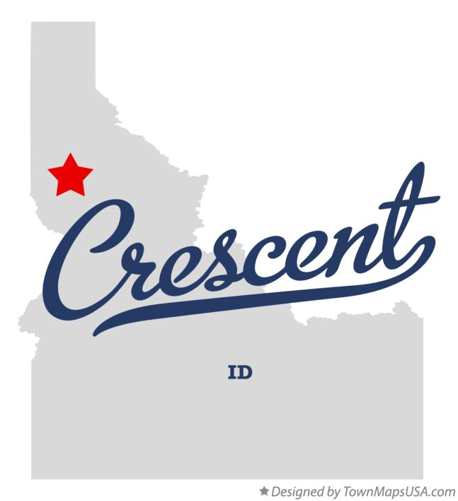 Map of Crescent Idaho ID