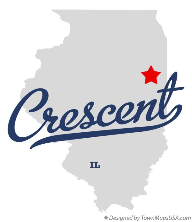 Map of Crescent Illinois IL