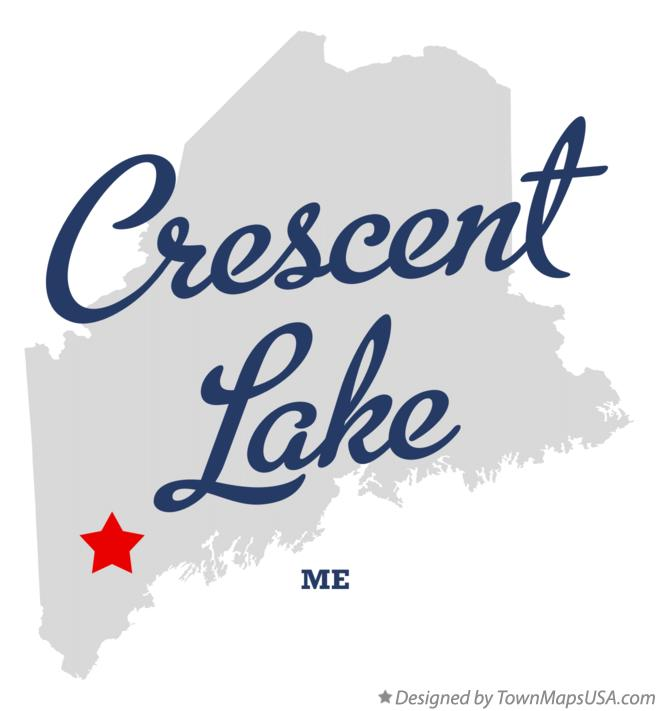 Map of Crescent Lake Maine ME